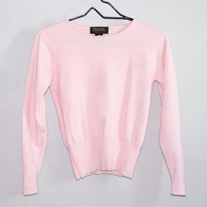 Premier Collection Pink 100% Merino Wool Sweater